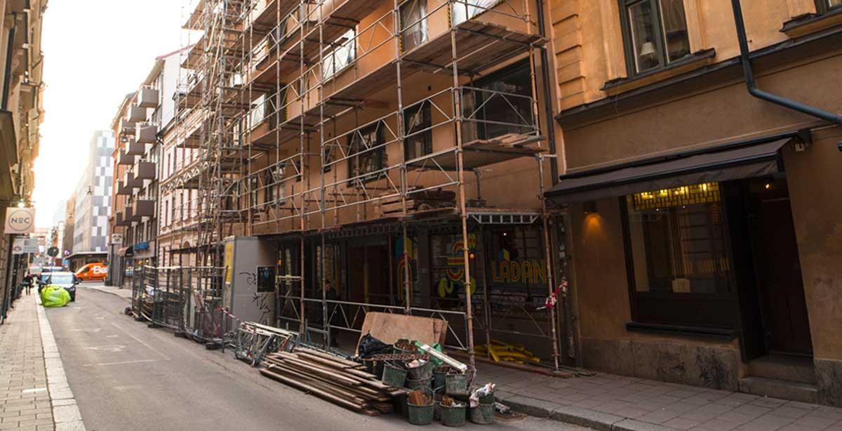 Brf Luntmakargatan 63 - under-renovering